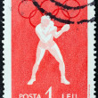 "ROMANIA - CIRCA 1960: A stamp printed in Romania from the ""Olympic Games, Rome"" 2nd issue shows Boxing, circa 1960. — Stock Photo"