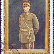 图库照片: TURKEY - CIRC1968: stamp printed in Turkey issued for 30th death anniversary of Kemal Ataturk shows Kemal Ataturk in military uniform, circ1968.