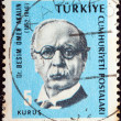 "TURKEY - CIRC1965: stamp printed in Turkey from ""Cultural Celebrities"" issue showing Dr. Besim Omer Akalin, circ1965. — Stock Photo #25604885"
