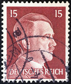 GERMANY - CIRCA 1941: A stamp printed in Germany shows Adolph Hitler, circa 1941. — Стоковое фото