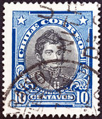 智利-大约 1930 年: 在智利打印戳记表明,独立领导人贝尔纳多 · 奥希金斯里克尔梅,大约 1930 年. — 图库照片