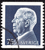 SWEDEN - CIRCA 1972: A stamp printed in Sweden shows King Gustaf VI Adolf, circa 1972. — Stock Photo