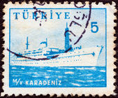 TURKEY - CIRCA 1959: A stamp printed in Turkey shows liner Karadeniz, circa 1959. — Stock Photo