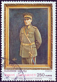 Turquia - circa 1968: um selo impresso na turquia emitida para o 30º aniversário da morte de kemal ataturk mostra kemal ataturk em uniforme militar, circa 1968. — Fotografia Stock