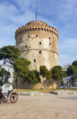 White Tower landmark of Thessaloniki, Greece — Stock Photo