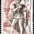"FRANCE - CIRCA 1953: A stamp printed in France from the ""Literary Figures and National Industries"" issue shows Hernani, Hernani ou l'Honneur Castillan (Victor Hugo), circa 1953. — Stock Photo"