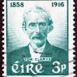 IRELAND - CIRCA 1958: A stamp printed in Ireland issued for the birth centenary of Thomas J. (Tom) Clarke shows patriot Tom Clarke, circa 1958. — Stock Photo