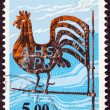 "FINLAND - CIRC1975: stamp printed in Finland from ""Traditional Finnish Arts"" issue shows Kirvu Weather Vane, circ1975. — Stock Photo #25887845"