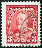 CANADA - CIRCA 1935: A stamp printed in Canada shows King George V in Uniform, circa 1935. — Stock Photo