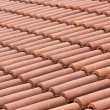 Ceramic roof tiles — Stockfoto
