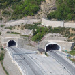 Tunnels in Egnatia international highway, Greece — Stock Photo