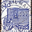 "GERMANY - CIRCA 1964: A stamp printed in Germany from the ""Twelve Centuries of German Architecture"" issue shows Trifels Castle (Palatinate), circa 1964. — Stock Photo"