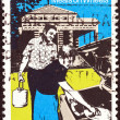 "AUSTRALIA - CIRCA 1980: A stamp printed in Australia from the ""Community Welfare"" issue shows meals on wheels, circa 1980. — 图库照片"