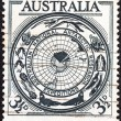AUSTRALIA - CIRCA 1954: A stamp printed in Australia from the Australian Antarctic Research issue shows territory badge, circa 1954.  — Stock Photo