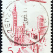 POLAND - CIRCA 1957: A stamp printed in Poland shows City Hall, Gdansk, circa 1957. — Stock Photo