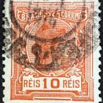 BRAZIL - CIRCA 1918: A stamp printed in Brazil shows Liberty, circa 1918. — Stock Photo #26829733