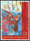 """Grécia - circa 2000: um selo impresso na grécia a partir do """"patriarcado ecumênico"""" questão mostra doxologia, por volta de 2000. — Foto Stock"""