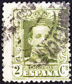 SPAIN - CIRCA 1922: A stamp printed in Spain shows King Alfonso XIII, circa 1922. — Stok fotoğraf