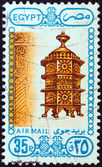 EGYPT - CIRCA 1988: A stamp printed in Egypt shows architecture and art, Brazier, circa 1988. — Stock Photo