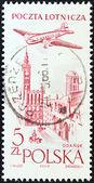 POLAND - CIRCA 1957: A stamp printed in Poland shows City Hall, Gdansk, circa 1957. — 图库照片