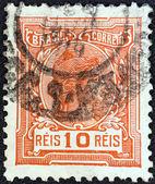 BRAZIL - CIRCA 1918: A stamp printed in Brazil shows Liberty, circa 1918. — Stock Photo