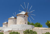 Traditional windmills in Alacati, Izmir province, Turkey — Stock Photo