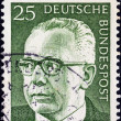 GERMANY - CIRCA 1971: A stamp printed in Germany shows a portrait of Federal President Gustav Heinemann, circa 1971.  — Stock Photo