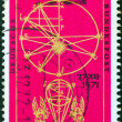 GERMANY - CIRCA 1971: A stamp printed in Germany issued for the 400th birth anniversary of astronomer Johannes Kepler shows Astronomical Calculus, circa 1971. — Stock Photo
