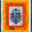 Stock Photo: GERMANY - CIRC1971: stamp printed in Germany issued for Centenary of GermUnification shows GermEagle, circ1971.