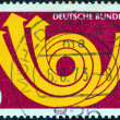 GERMANY - CIRCA 1973: A stamp printed in Germany from the Europa issue shows Europa posthorn, circa 1973.  — Stock Photo