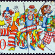 GERMANY - CIRCA 1972: A stamp printed in Germany issued for the 150th anniversary of Cologne Carnival shows three clowns, circa 1972. — Stock Photo #27370673