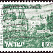 "Stock Photo: ISRAEL - CIRC1971: stamp printed in Israel from ""Landscapes"" issue shows Rosh Pinntown, circ1971."