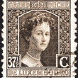 LUXEMBOURG - CIRCA 1914: A stamp printed in Luxembourg shows Grand Duchess Adelaide, circa 1914. — Stock Photo