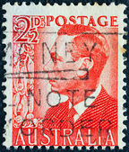 AUSTRALIA - CIRCA 1950: A stamp printed in Australia shows King George VI, circa 1950. — Stock Photo