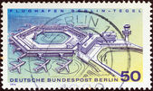 GERMANY - CIRCA 1974: A stamp printed in Germany shows Berlin-Tegel Airport, circa 1974. — Stockfoto
