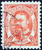 LUXEMBOURG - CIRCA 1906: A stamp printed in Luxembourg shows Grand Duke William IV, circa 1906. — Stock Photo