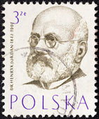 "POLAND - CIRCA 1957: A stamp printed in Poland from the ""Polish Doctors"" issue shows Dr. Henryk Jordan, circa 1957. — Foto Stock"