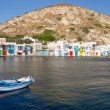 Klima fishing village, Milos island, Cyclades, Greece — Stock Photo
