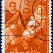 "SPAIN - CIRCA 1960: A stamp printed in Spain from the ""Christmas"" issue shows the Nativity (after Diego Velazquez), circa 1960. — Stock Photo"