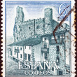 "SPAIN - CIRCA 1968: A stamp printed in Spain from the ""Spanish Castles (3rd series)"" issue shows Frias, circa 1968. — Stock Photo"