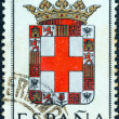 "SPAIN - CIRCA 1962: A stamp printed in Spain from the ""Arms of Provincial Capitals"" issue shows Almeria, circa 1962. — Stock Photo"