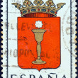 "SPAIN - CIRCA 1963: A stamp printed in Spain from the ""Arms of Provincial Capitals"" issue shows Cuenca, circa 1963. — Stock Photo #28548873"