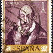 Stock Photo: SPAIN - CIRC1961: stamp printed in Spain from shows self portrait of El Greco, circ1961.