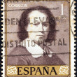 "SPAIN - CIRCA 1960: A stamp printed in Spain from the ""Stamp Day and Murillo Commemoration"" issue shows self-portrait of Bartolome Esteban Murillo, circa 1960. — Stock Photo #28549109"