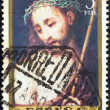 """SPAIN - CIRCA 1970: A stamp printed in Spain from the """"Stamp day and Luis de Morales commemoration"""" issue shows Ecce Homo, circa 1970. — Stock Photo"""