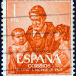 SPAIN - CIRCA 1960: A stamp printed in Spain issued for the 300th death anniversary of St. Vincent de Paul shows St. Vincent de Paul, circa 1960. — Stock Photo #28549339
