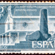 SPAIN - CIRCA 1956: A stamp printed in Spain issued for the 20th anniversary of General Franco's assumption of office as head of State shows Hermitage and Monument, circa 1956. — Stock Photo