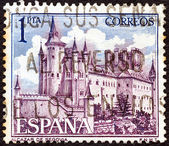 SPAIN - CIRCA 1964: A stamp printed in Spain shows Alcazar de Segovia, circa 1964. — Stock Photo