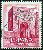 """España - alrededor de 1975: un sello impreso en españa de la edición de """"turista"""" muestra el arco de la alhambra, granada, alrededor de 1975. — Foto de Stock"""