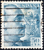 SPAIN - CIRCA 1939: A stamp printed in Spain shows General Francisco Franco, circa 1939. — Stock Photo